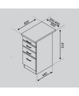 Кухонный модуль Світ меблів Тюльпан Н 30Ш