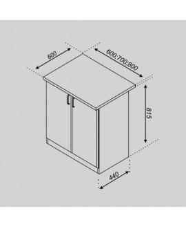 Кухонный модуль Світ меблів Тюльпан Н 60