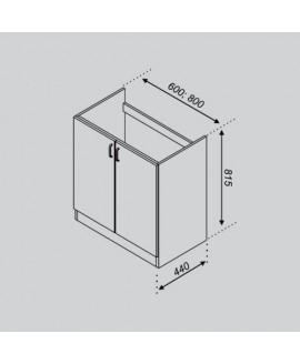 Кухонный модуль Світ меблів Тюльпан Н 60М
