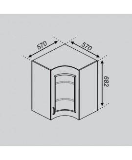 Кухонный модуль Світ меблів Тюльпан Р 57×57Ск