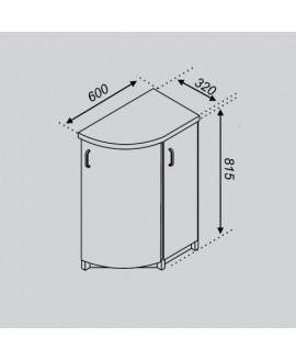 Кухонный модуль Світ меблів Тюльпан Н 32КЗЗ