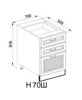 Кухонный модуль Світ меблів Роксана Н 70 Ш
