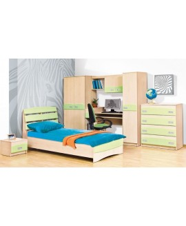 Детская комната Світ меблів Терри (фисташка/клён - розовая/клён)