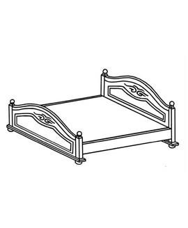 Кровать Элеонора стиль Эльза 1,6