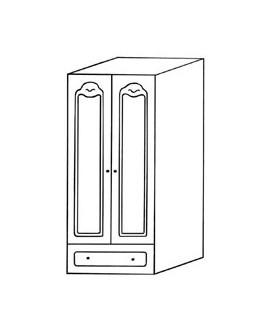 Шкаф Элеонора стиль Эльза 2-х дверный