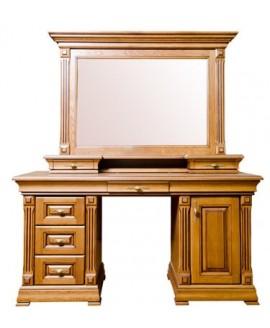 Туалетный столик Элеонора стиль Элеонора двухтумбовый с зеркалом и надставкой