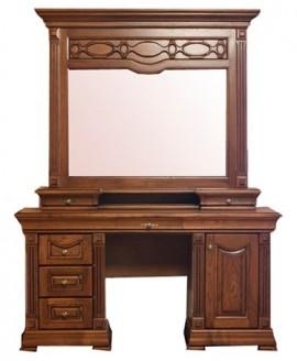 Туалетный столик Элеонора стиль Элеонора нова (с зеркалом и надставкой)