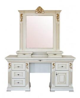 Туалетный столик Элеонора стиль Мария с зеркалом и надставкой