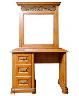 Туалетный столик Элеонора стиль Виктория (однотумбовый с зеркалом)