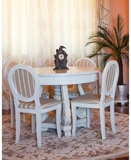Комплект обеденный Элеонора стиль Зефир + 4 стула Людовик