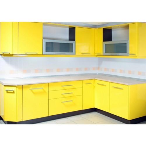 Кухня Калабрия желтый глянцевый