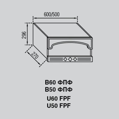 Кухонный модуль Валенсия В 50ФПФ