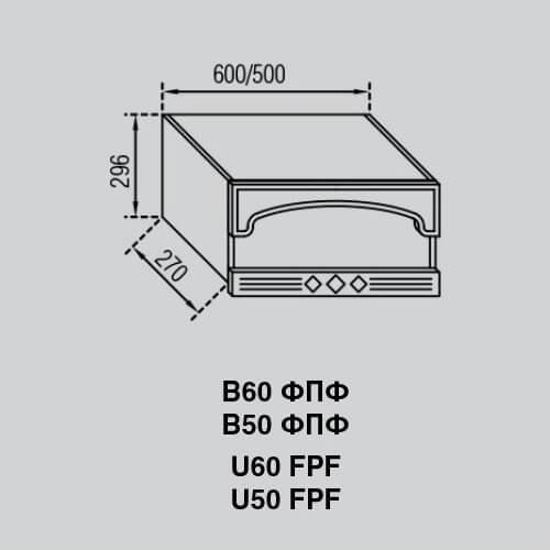 Кухонный модуль Валенсия В 60 ФПФ