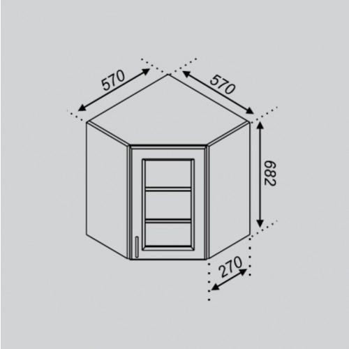 Кухонный модуль Оля 57×57Ск