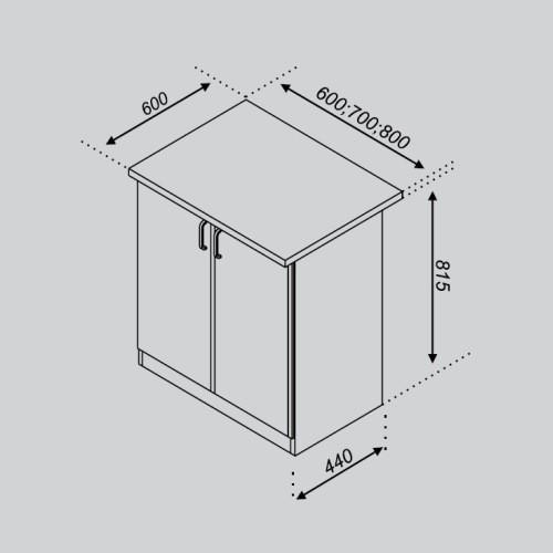 Кухонный модуль Тюльпан Н 60