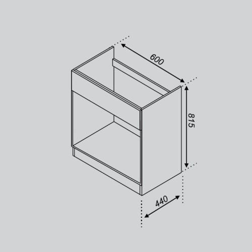 Кухонный модуль Тюльпан Н 60Пл