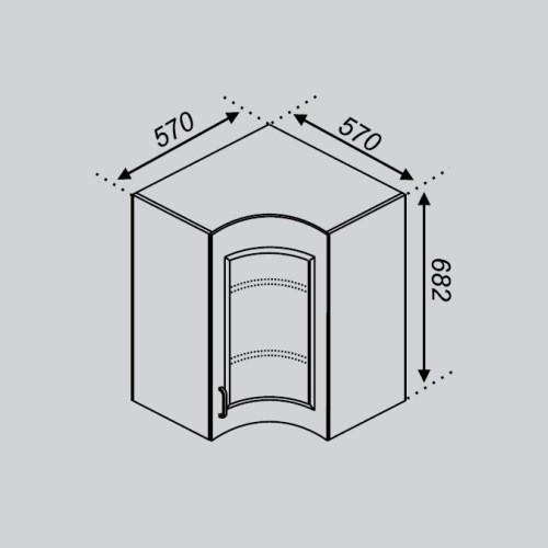 Кухонный модуль Тюльпан Р 57×57Ск