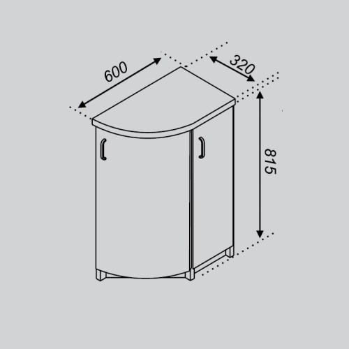 Кухонный модуль Тюльпан Н 32КЗЗ