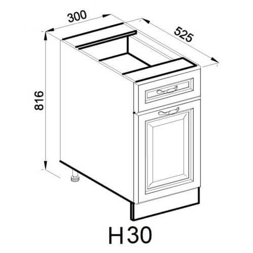 Кухонный модуль Роксана Н 30