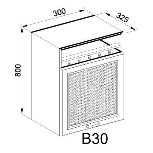Кухонный модуль Роксана В 30