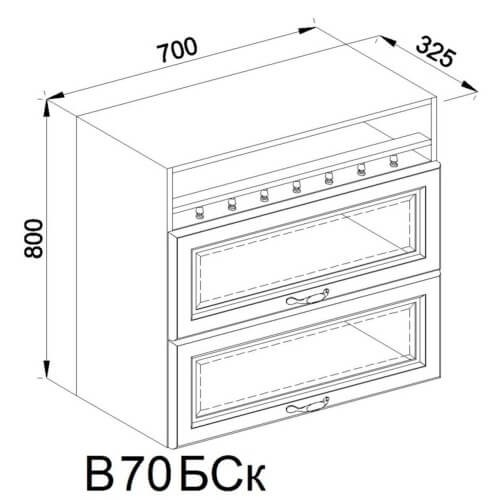 Кухонный модуль Роксана В 70 БСк