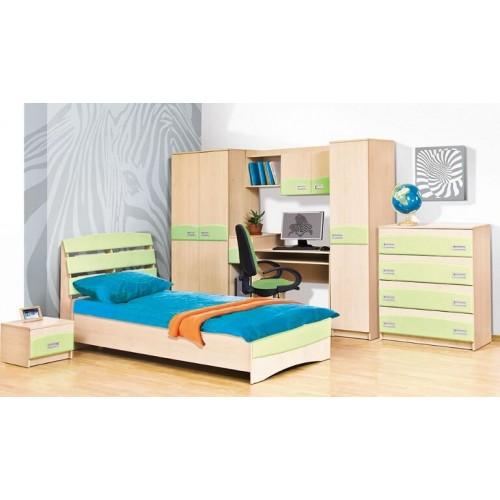 Детская комната Терри (фисташка/клён - розовая/клён)