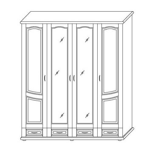 Шкаф Ш 4-х дверный