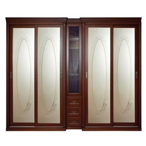 Шкаф 4-х дверный Престиж (купе)
