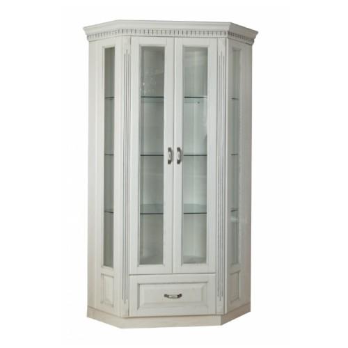 Витрина Платина 2-х дверная угловая прямая