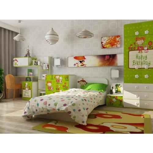 Детская кровать Apple с бортиками