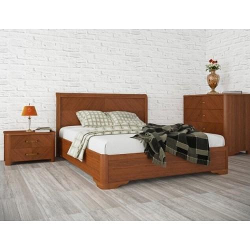 Кровать Милена 1,6 (с интарсией)