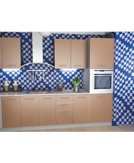Кухня модульна СМ Капучино (2600x600x2132) 1