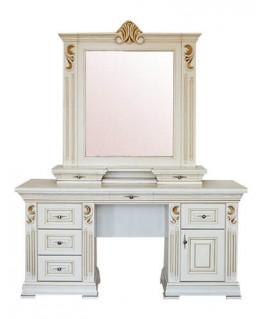 Туалетний столик Елеонора стиль Марія з дзеркалом і надставкою