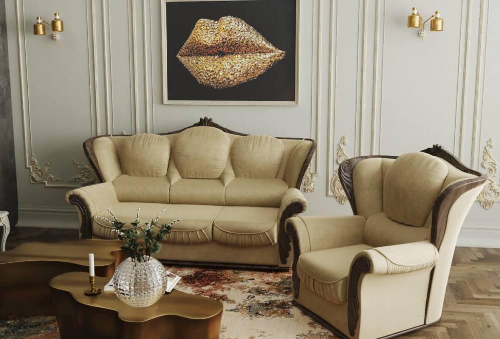 Комплект мягкой мебели Герцог 3+1