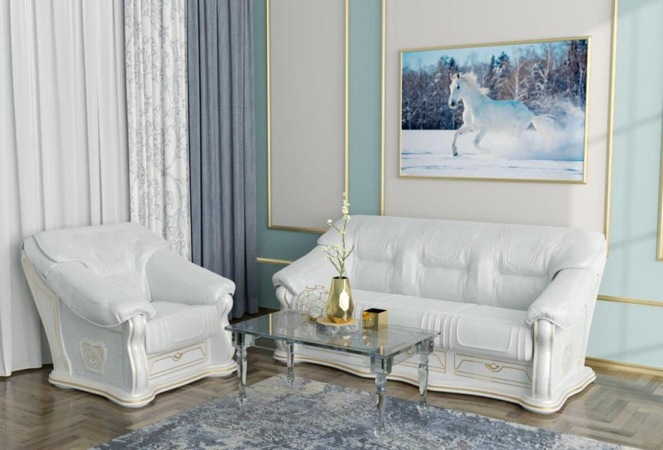 Комплект мягкой мебели Лорд 3+1 (кожа)