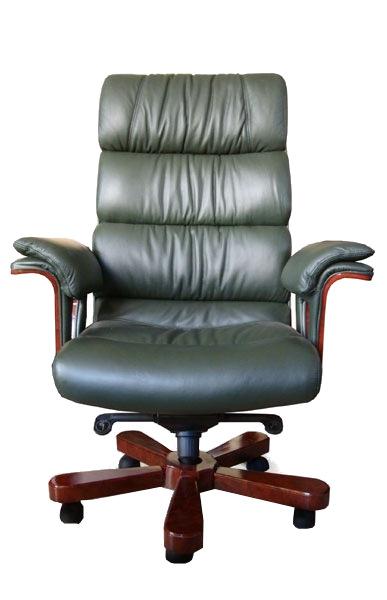 Кресло руководителя Флоренция (дерево, кожа)