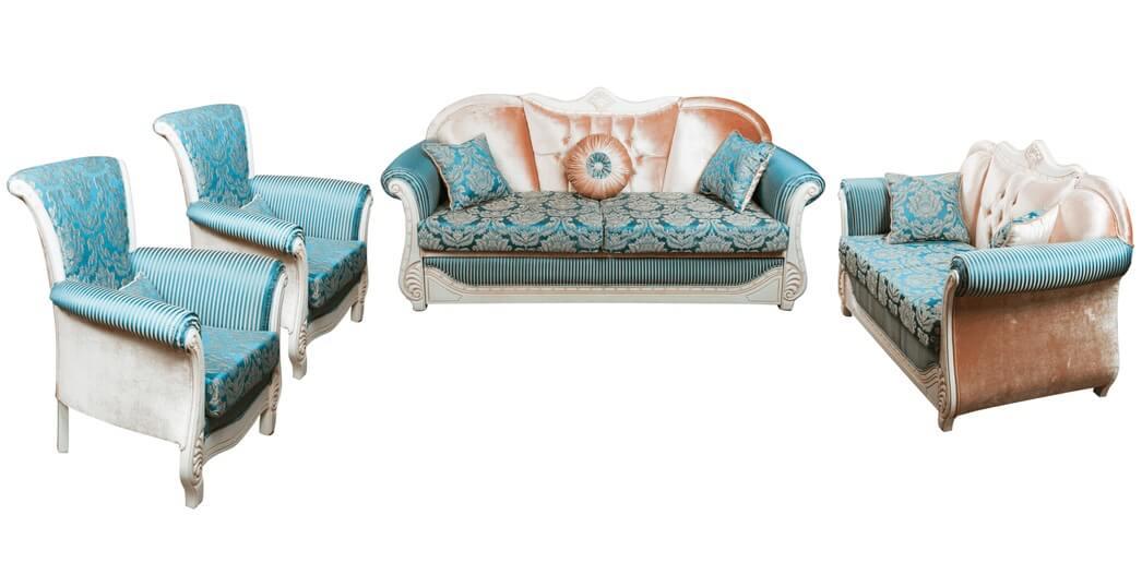 Комплект мягкой мебели Эльпаз белое дерево