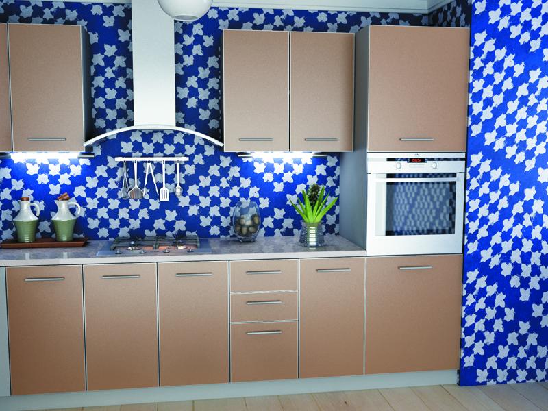 Кухня модульная Капучино (2600x600x2132) 1