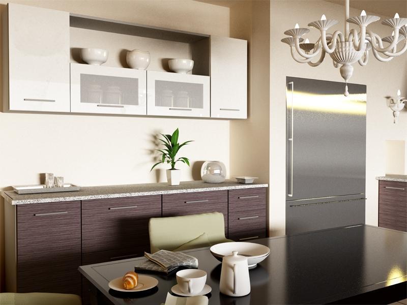Кухня модульная Сити (2000х600х2132) 2