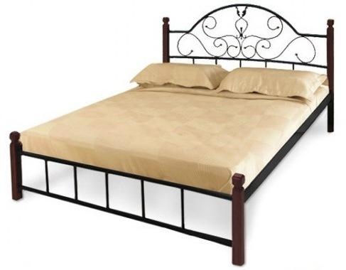 Кровать Анжелика деревянные ножки