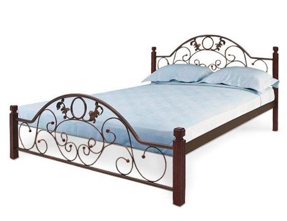 Кровать Франческа деревянные ножки