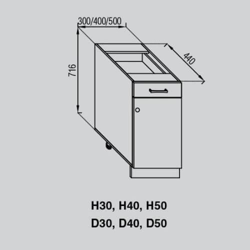 Кухонный модуль Валенсия Н 30