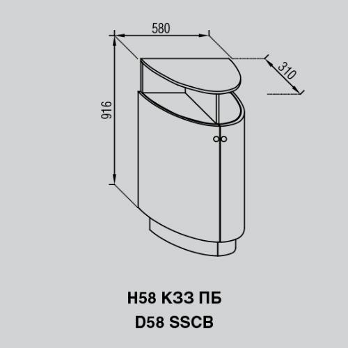 Кухонный модуль Валенсия Н 58КЗЗ ПБ