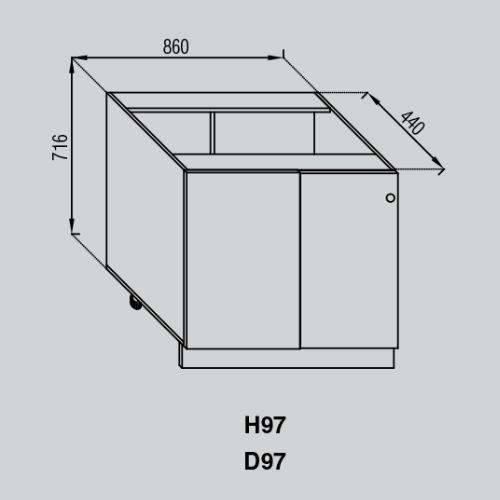 Кухонный модуль Валенсия Н 97