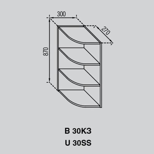 Кухонный модуль Валенсия В 30КЗ