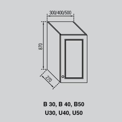 Кухонный модуль Валенсия В 40