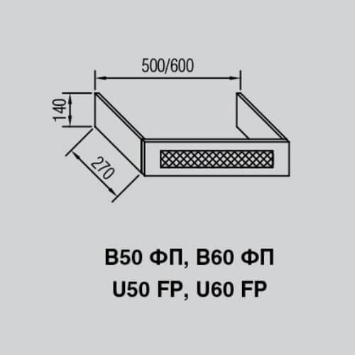 Кухонный модуль Валенсия В 50ФП