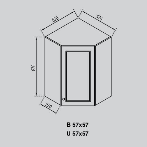 Кухонный модуль Валенсия В 57×57