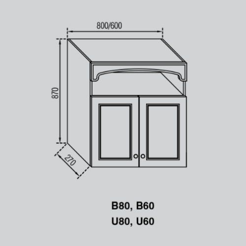 Кухонный модуль Валенсия В 60