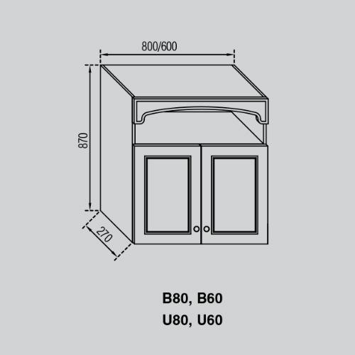 Кухонный модуль Валенсия В 80